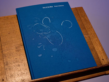 'Out of the Blue' artist book by Susan Aldworth. Photography by Colin Davison.
