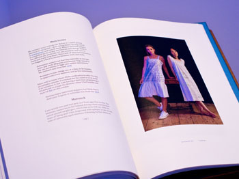 'Out of the Blue' artist book by Susan Aldworth. Photograph by Colin Davison.